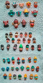 Traditional Romanian Masks (with a twist) 4 by AnirBrokenear