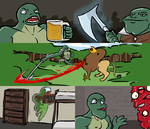 The continued adventures of Mantough Lizardcoque. by TheNoodleGod2012