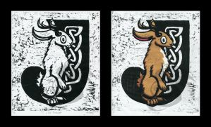 J is for Jackalope by Oddstuffs
