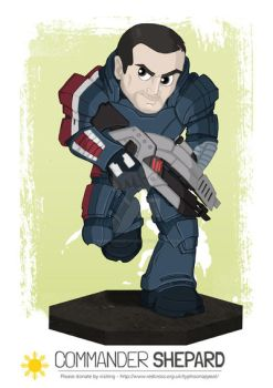 Philippines Commission #11 - Commander Shepard by happymonkeyshoes