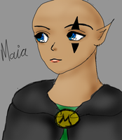 Sketchy Maia by Luciferspet