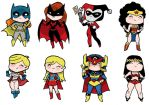 Little DC Gals by JoelRCarroll