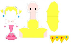 Peach Papercraft Template by AnimeGang
