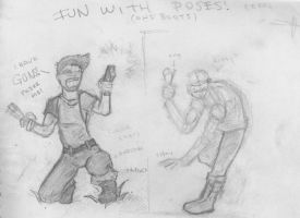 Fun With Poses and Boots by DarylAlexsy