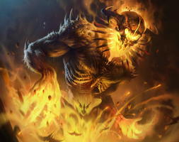 Fire Golem by ivany86
