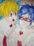 Anime free rei and nagisa by Bluedragoncartoon