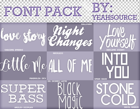 Font Pack #6 by oursheartsps