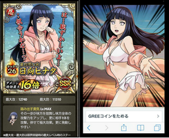 Hinata Hyuuga Swimsuit Cards by hinauzu