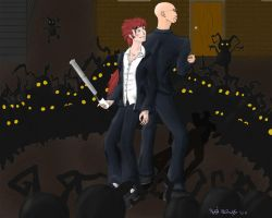 Epic Kingdom Hearts showdown by Kamera-chan