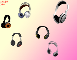 MMD Studio Headphones pack by amiamy111