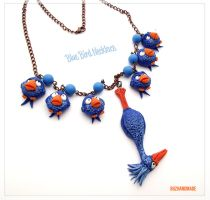 Blue Bird Pixar Necklace - Polymer Clay FANART by buzhandmade