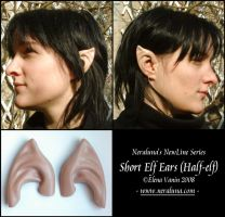 New short elf ears - halfelf by Lluhnij