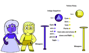 Indigo Sapphire and Yellow Ruby's reference sheet by ProtanaArchives94