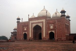 Taj Mahal South Gate 1 by Zankruti-Murray