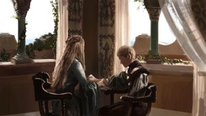 Queen Cersei and Prince Joff by Anday
