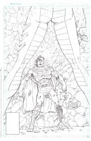 The Mighty Titan/Superman #21 homage  - pencils by StevenWilcox
