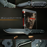 Metal Gear Solid 4: Old Snake's Stun Knife by RazielGardel