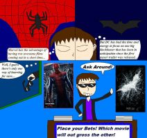 The Amazing Spiderman vs The Dark Knight Rises p.1 by notacukoofangirl121
