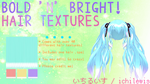 [MMD] Bold 'n' Bright Hair Textures + DL by IchiLewis