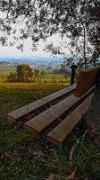 Bench with nature and scenery by patrickjobst
