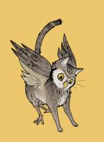 Prouncing Owl Cat by missbooyaka