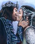 Arwen and Aragorn Commission by AshleighPopplewell