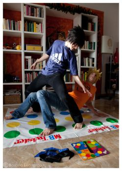 SasuNaru, Twister Game by Leox90