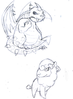 Neopets Request -sketch- by Chloemew4ever