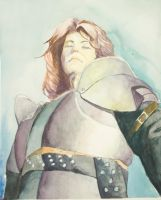 Watercolor Knight by ThereminStudio