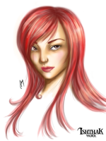 Erza by Ishthak