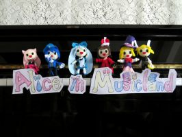Alice in Musicland Plushie Collection by ha-nata