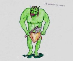 #15 An ork-like creature by KanaGo