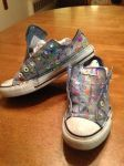 Splatter Painted Converse by Torchhwood