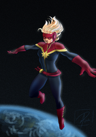 Captain Marvel by jadenwithwings