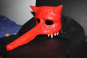 A lying Devils mask by Axe-Law