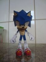 Sonic papercraft - Sonic Boom Version by augustelos