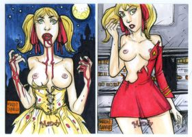 TWO MANDY artist proof commission by mdavidct