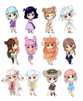 Chibi Girl Sketch Requests by bunnilu