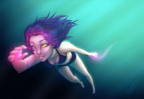 QC-Early Morning Swim by Syvelli