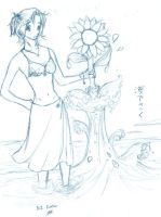 Mandi and the sunflower by linzi-chan