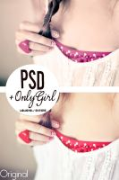 PSD'+OnlyGirl by WowisMel