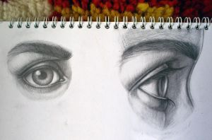sketches: eyes by Infinitely