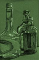 charcoal bottles by mrissar