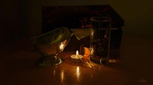 Candlelight stilllife by Suzanne-Helmigh