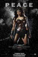 Dawn of justice Poster (Wonder Woman) by The-Ginger-Artist