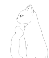 Cat lineart: Free to use by TsukaLavire