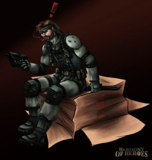 Don't sneak up on Solid Snake by Cronoan