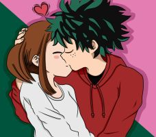 Boku no Hero Academia - Deku x Uraraka by Love-x3-You