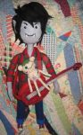 Needle Felted Marshall Lee, Hambo and Axe Bass by CatsFeltLings