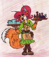 Vixey, waitress by JacobMace